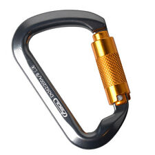 30KN Sturdy Aluminum Twist Gate Carabiner Auto Lock for Outdoor Climbing Caving