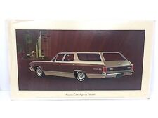 Vintage Concours Estate Wagon Chevrolet Dealership Showroom Sign Poster 18x32