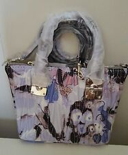 Guess Keegan Petite Satchel Blue Floral