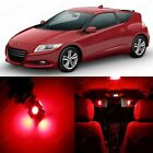 11 x Super Red LED Lights Interior Package Kit For Honda CR-Z 2011 - 2014
