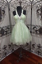G1208 CLARISSE APPLE GREEN SZ 4 SHORT  NEW PROM FORMAL PAGEANT GOWN  DRESS