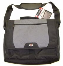 """New Wenger 'Pillar' Computer Messenger Brief 17"""" - Black/Grey - New with Tags"""