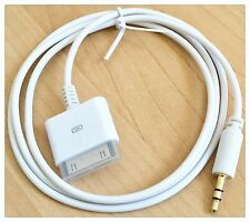Blanco Aux 3.5 mm Macho A Macho Para Ipod Iphone Ipad Dock Cable Adaptador