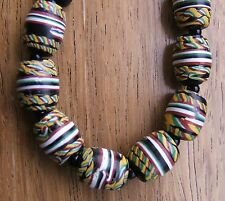 LOVELY CHUNKY VINTAGE ART DECO VENETIAN GLASS TRADE BEAD NECKLACE