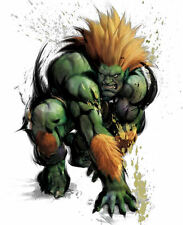 Framed Game Character Print – Blanka Street Fighter (Picture Poster Gaming Art)