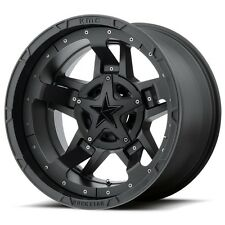 18 inch Black XD Series Rockstar 3 Wheels Rims Jeep Wrangler JK 5x5 5x127 Set 4