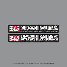 SKU2209 - 2 X Yoshimura Escape-Suzuki-Calcomanías-Pegatinas - 150mm X 24mm