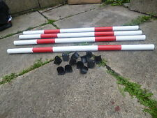 DOG AGILITY DIY PACK 4 POLES +12 QUALITY JUMP CUPS TRAINING OBEDIENCE EQUIPMENT