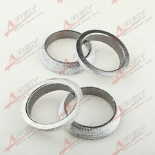 "4PCS 2.75""HEADER/MANIFOLD/DOWNPIPE EXHAUST FLANGE WELD-ON GRAPHITE DONUT GASKET"