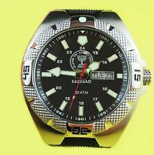 ISRAELI JEWISH MOSSAD INTELLIGENCE COMBAT DIVERS WATCH IDF CIA * NEW IN CASE 01