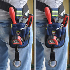 3-Pocket Professional Electrician Tool Belt Utility Pouch Work w/Tape Buckle Hot