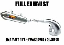 FULL FMF FATTY PIPE EXHAUST + POWERCORE 2 SILENCER 00-03 KTM 125SX 125 SX