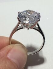 Huge 6CT CZ Solitaire 925 SOLID Sterling Silver Engagement Ring Size 8