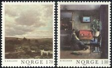 Norway 1981 Norwegian Art/Paintings/Artists/Landscape/People 2v set (n44636)