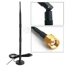 2.4GHz 12dBi Wireless WIFI Antenna Booster WLAN RP-SMA for PCI Card Modem Router