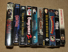 Lot 10 Horror VHS - The Terror + Dracula + House Usher + Frankenstein + Yorga