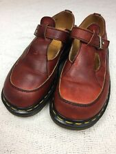 Doc Martens Mary Jane T Strap Women's Shoes Leather UK Sz 4 US 6 Made In England