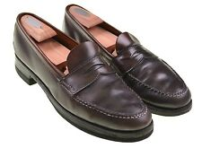 Alden 763 SHELL CORDOVAN Color #8 LHS Half Strap Penny Loafers Shoes 10.5 D