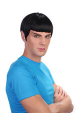 Star Trek Style Spaceman Vulcan Spock Black Wig Fancy Dress Accessory