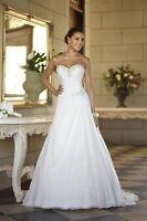 New Stock Chiffon Wedding Dresses Prom/Bridal Gown Stock Size 6 8 10 12 14 16