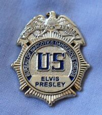 Elvis Presley US Bureau Of Narcotics Dangerous Drugs badge.Gracelands,TCB