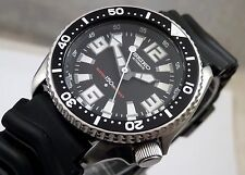 Seiko Black 'Giant Markers' Tuna Submariner Automatic Diver's Watch Custom 7S26