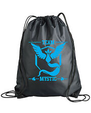 Drawstring Pokemon Go Team Mystic Backpack Bag Instinct Valor Sticker Shirt Plus