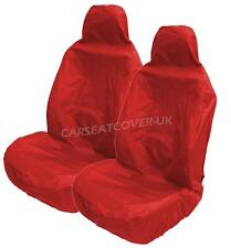 Heavy Duty RED Waterproof Car Seat Covers for RECARO seats -  2 x Fronts