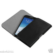 Samsung Galaxy Note Note 2/3/4/5 Horizontal Wallet Pouch Belt Clip Carbon Fiber
