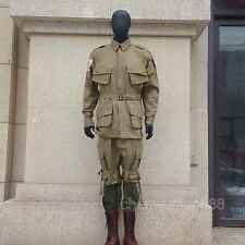 U.S.WW2 WWII SOLIDER M42 MILITARY PARATROOPER UNIFORM COMBAT AMERICAN XL