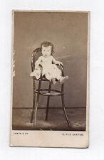 PHOTO ANCIENNE CDV Bébé Enfant Chaise Jamin & Cie Paris Vers 1870 Studio