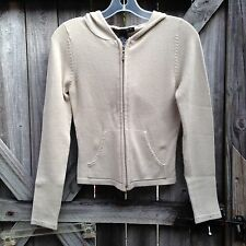 Rampage Cream Acrylic Hooded Sweater Size Small