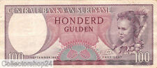 Suriname 100 Gulden 1963 Zf Pn 123 serial UZ049043