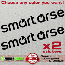 SMART ARSE decal sticker vinyl mercedes fortwo forfour brabus toy car bumper