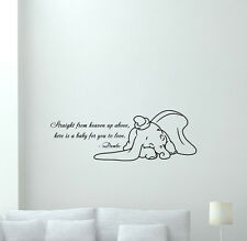 Dumbo Quote Wall Decal Disney Elephant Vinyl Sticker Nursery Decor Mural 258crt