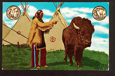 1961 Chief Iron Tail the Indian on the Nickel Oklahoma postcard