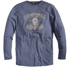 Replika Jeans Long Sleeve T-Shirt/Chambray Blue - 5XL WAS £35.00