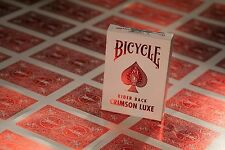 1 Deck Bicycle Crimson Red Metal Luxe Rider Back Playing Cards Brand New Deck