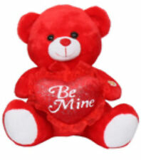 "100% Polyester 10""  Red Be Mine Teddy Bear Soft Plush with Music -B.Included"