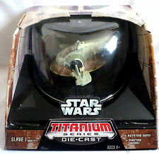 STAR WARS TITANIUM SERIES / DIE CAST BOBA FETT SLAVE 1 / NEW WITH BOX