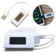 White LCD USB Charger PC Battery Capacity Power Current Voltage Tester Meter A41