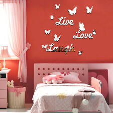 Live Laugh Love Quote Removable Vinyl Wall Stickers Mirror Decor Art DIY
