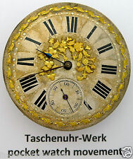 HENRI ROCHTU A GENEVE Herren TASCHENUHR - UHRWERK UND PRUNK-ZIFFERBLATT um 1860