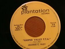 """JEANNIE C. RILEY 45 RPM """"Harper Valley P.T.A."""" """"Yesterday All Day..."""" G+ cond."""