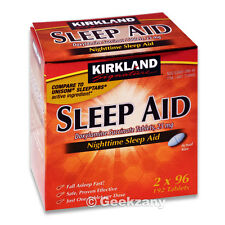 Kirkland Signature SLEEP AID, Doxylamine Succinate 25mg Two (2)x 96 Ct Bottle