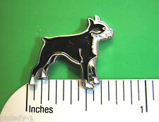 BOSTON TERRIER - hat pin , lapel pin , tie tac , hatpin  (S)(E) GIFT BOXED