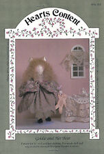"""Sewing Pattern for 16"""" Doll & Doll Clothing - Goldie & Her Bear - Uncut Craft"""