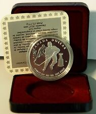 CANADA SILVER Ag DOLLAR 1993 PROOF Canada Stanley Cup 100 th  Giocatore HOCKEY