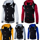 Men Coat Jacket Outwear Sweate Winter Slim Hoodie Warm Hooded Sweatshirt E6S