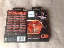 Philips SHQ1300OR ActionFit Sports in ear headphones earphones. new